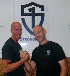 Kevin Rail and Pavel Tsatsouline at StrongFirst kettlebell certification picture.