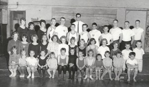 Jake Monlux with his early 1960s Gymnastics Team