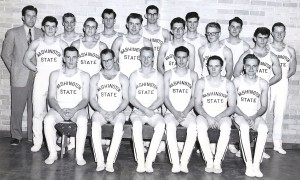 Washington State Gymnastics Team Pacific Northwest Champs-1952 with Jake Monlux (Center in glasses)