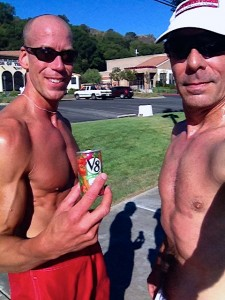 We DID have a V-8 after our run and it hit the spot!