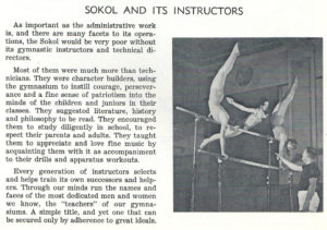 Physical education instructors in the Sokol held positions of great social responsibility far beyond the physical.