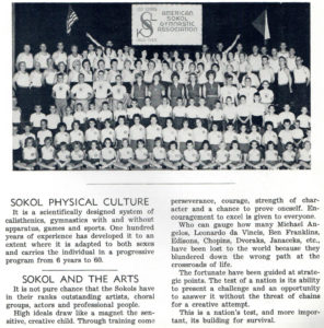 """The Sokols built """"whole"""" people of mind, body, spirit which included education in the arts, music, and literature."""